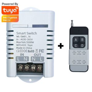 16A wifi + 433Mhz smart wifi basic switch tuya smartlife app