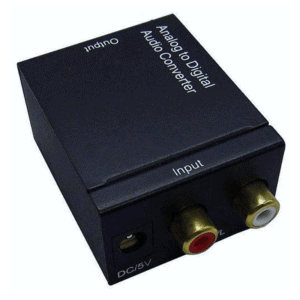 analog to digital audio converter rca coaxial toslink spdif optical 1