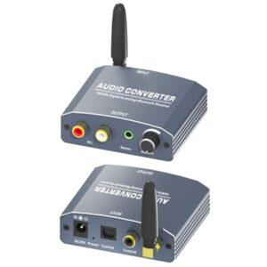 cell phone to amp rca via bluetooth bt digital to analog audio converter 1