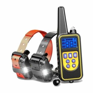 dog training collar lr remote 800m 2x dogs rechargeable