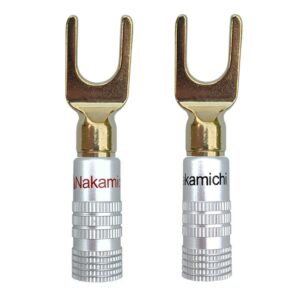 nakamichi speaker connector u type spade terminal gold plated 1