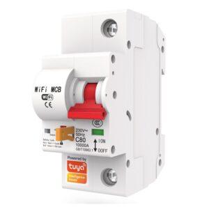 smart mcb circuit breaker single pole 16a 20a 25a 32a 40a 63a 125a wifi switch tuya smartlife 1
