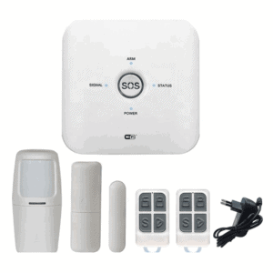 smart security alarm kit gsm sim card 433mhz sensors wifi tuya smart life