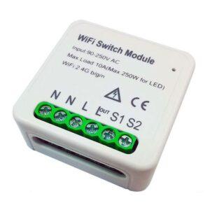 tuya smart wifi switch module override 2 gang