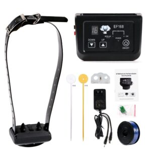 wireless dog pet fence electronic fence rechargeable and waterproof collar 1x receivers 1